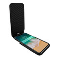 Piel Frama iPhone X / Xs iMagnum Leather Case - Black Cowskin-Crocodile