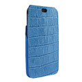 Piel Frama iPhone X / Xs iMagnum Leather Case - Blue Cowskin-Crocodile
