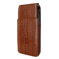 Piel Frama iPhone X / Xs iMagnum Leather Case - Brown Cowskin-Crocodile