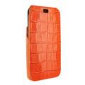 Piel Frama iPhone X / Xs iMagnum Leather Case - Orange Cowskin-Crocodile