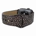 Piel Frama Apple Watch 42 mm Leather Strap - Brown Cowskin-Stingray / Black Adapter