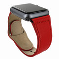 Piel Frama Apple Watch 42 mm Leather Strap - Red / Black Adapter