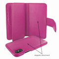 Piel Frama iPhone X / Xs WalletMagnum Leather Case - Fuchsia