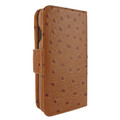 Piel Frama iPhone X / Xs WalletMagnum Leather Case - Tan Cowskin-Ostrich