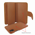 Piel Frama iPhone XR WalletMagnum Leather Case - Tan iForte
