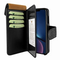 Piel Frama iPhone XR WalletMagnum Leather Case - Black Cowskin-Crocodile