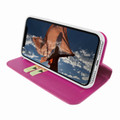 Piel Frama iPhone XR FramaSlimCards Leather Case - Fuchsia