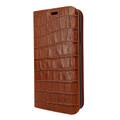 Piel Frama iPhone XR FramaSlimCards Leather Case - Brown Cowskin-Crocodile