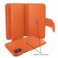 Piel Frama iPhone Xs Max WalletMagnum Leather Case - Orange