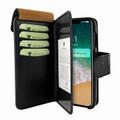 Piel Frama iPhone Xs Max WalletMagnum Leather Case - Black Cowskin-Ostrich