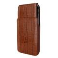 Piel Frama iPhone Xs Max iMagnum Leather Case - Brown Cowskin-Crocodile