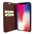 Piel Frama iPhone Xs Max FramaSlimCards Leather Case - Brown Cowskin-Crocodile