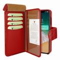Piel Frama iPhone 11 Pro Max WalletMagnum Leather Case - Red Cowskin-Crocodile