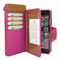 Piel Frama iPhone 11 Pro Max WalletMagnum Leather Case - Fuchsia Cowskin-Crocodile