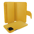 Piel Frama iPhone 11 Pro Max WalletMagnum Leather Case - Yellow Cowskin-Crocodile