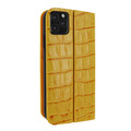Piel Frama iPhone 11 Pro FramaSlimCards Leather Case - Yellow Cowskin-Crocodile