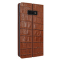 Piel Frama Samsung Galaxy S10e FramaSlimCards Leather Case - Brown Cowskin-Crocodile