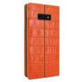 Piel Frama Samsung Galaxy S10e FramaSlimCards Leather Case - Orange Cowskin-Crocodile