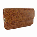Piel Frama iPhone 6 / 6S / 7 / 8 Horizontal Pouch Leather Case - Tan iForte