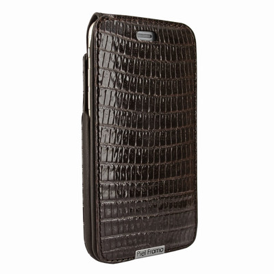 Piel Frama iPhone 6 / 6S / 7 / 8 UltraSliMagnum Leather Case - Brown Cowskin-Lizard