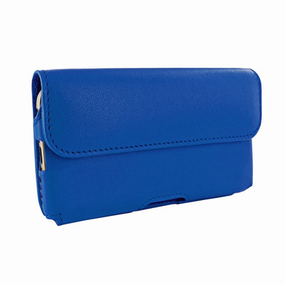Piel Frama iPhone 6 Plus / 6S Plus / 7 Plus / 8 Plus Horizontal Pouch Leather Case - Blue