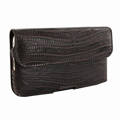 Piel Frama iPhone 6 Plus / 6S Plus / 7 Plus / 8 Plus Horizontal Pouch Leather Case - Brown Cowskin-Lizard