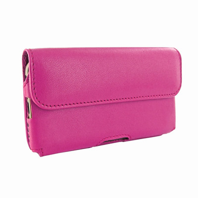 Piel Frama iPhone 6 Plus / 6S Plus / 7 Plus / 8 Plus Horizontal Pouch Leather Case - Fuchsia