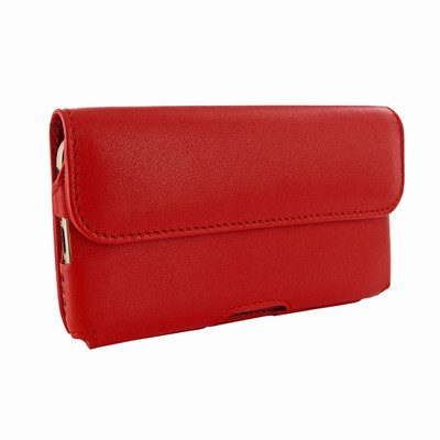 Piel Frama iPhone 6 Plus / 6S Plus / 7 Plus / 8 Plus Horizontal Pouch Leather Case - Red