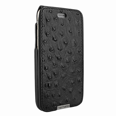 Piel Frama iPhone 6 Plus / 6S Plus / 7 Plus / 8 Plus UltraSliMagnum Leather Case - Black Cowskin-Ostrich