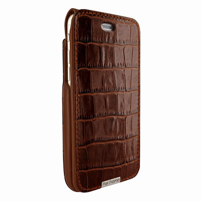 Piel Frama iPhone 6 Plus / 6S Plus / 7 Plus / 8 Plus UltraSliMagnum Leather Case - Brown Cowskin-Crocodile