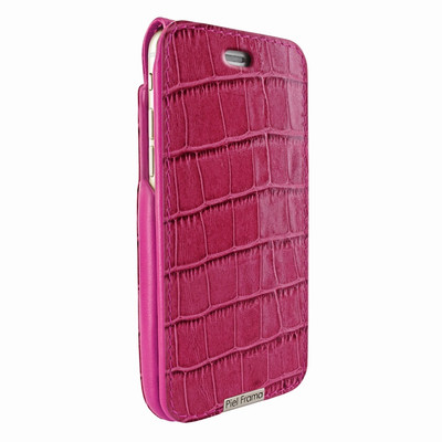 Piel Frama iPhone 6 Plus / 6S Plus / 7 Plus / 8 Plus UltraSliMagnum Leather Case - Fuchsia Cowskin-Crocodile