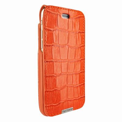 Piel Frama iPhone 6 Plus / 6S Plus / 7 Plus / 8 Plus UltraSliMagnum Leather Case - Orange Cowskin-Crocodile