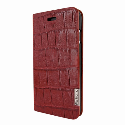 Piel Frama iPhone 7 / 8 FramaSlimCards Leather Case - Red Wild Cowskin-Crocodile