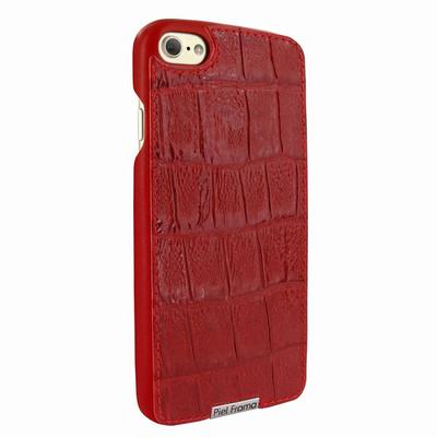 Piel Frama iPhone 7 / 8 FramaSlimGrip Leather Case - Red Wild Cowskin-Crocodile