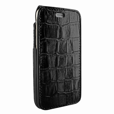 Piel Frama iPhone 7 / 8 iMagnumCards Leather Case - Black Cowskin-Crocodile