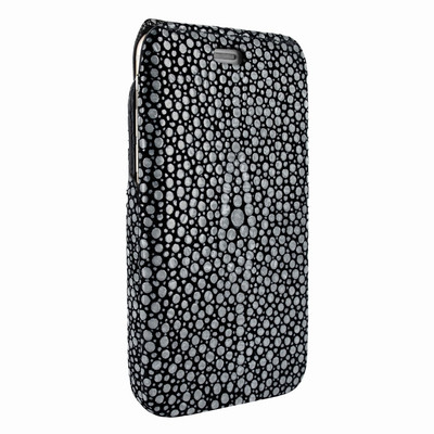 Piel Frama iPhone 7 / 8 iMagnumCards Leather Case - Black Cowskin-Stingray