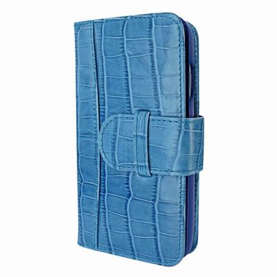 Piel Frama iPhone 7 / 8 WalletMagnum Leather Case - Blue Cowskin-Crocodile