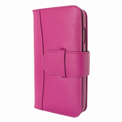 Piel Frama iPhone 7 / 8 WalletMagnum Leather Case - Fuchsia