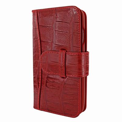 Piel Frama iPhone 7 / 8 WalletMagnum Leather Case - Red Wild Cowskin-Crocodile