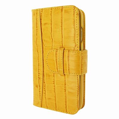 Piel Frama iPhone 7 / 8 WalletMagnum Leather Case - Yellow Cowskin-Crocodile