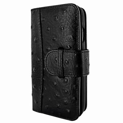 Piel Frama iPhone 7 / 8 WalletMagnum Leather Case -Black Cowskin-Ostrich