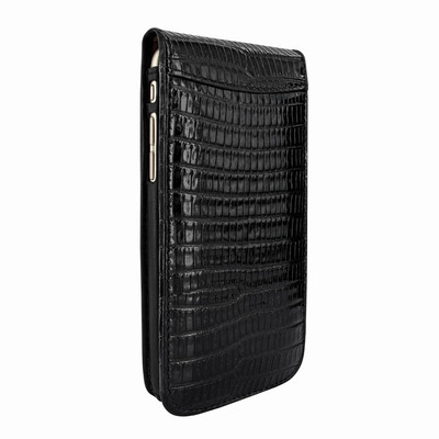 Piel Frama iPhone 7 Plus / 8 Plus Classic Magnetic Leather Case - Black Cowskin-Lizard