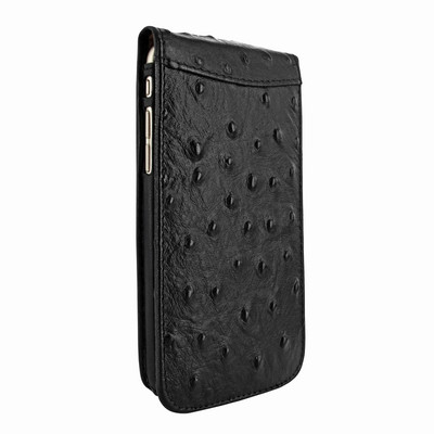 Piel Frama iPhone 7 Plus / 8 Plus Classic Magnetic Leather Case - Black Cowskin-Ostrich