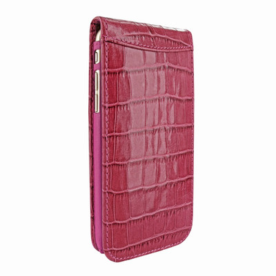 Piel Frama iPhone 7 Plus / 8 Plus Classic Magnetic Leather Case - Fuchsia Cowskin-Crocodile