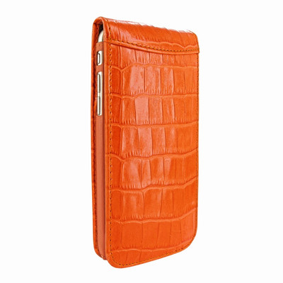 Piel Frama iPhone 7 Plus / 8 Plus Classic Magnetic Leather Case - Orange Cowskin-Crocodile