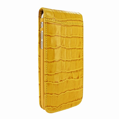 Piel Frama iPhone 7 Plus / 8 Plus Classic Magnetic Leather Case - Yellow Cowskin-Crocodile