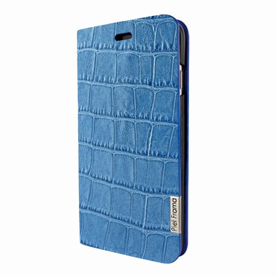Piel Frama iPhone 7 Plus / 8 Plus FramaSlimCards Leather Case - Blue Cowskin-Crocodile