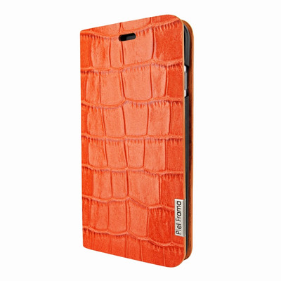Piel Frama iPhone 7 Plus / 8 Plus FramaSlimCards Leather Case - Orange Cowskin-Crocodile