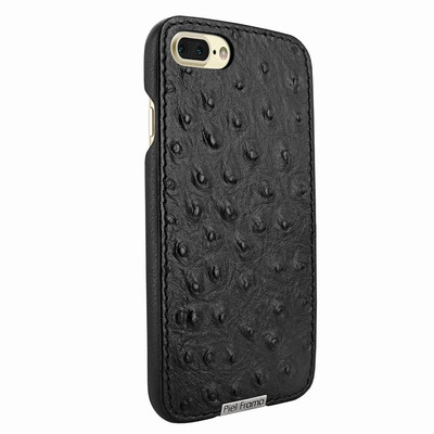 Piel Frama iPhone 7 Plus / 8 Plus FramaSlimGrip Leather Case - Black Cowskin-Ostrich