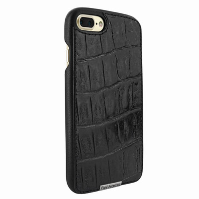 Piel Frama iPhone 7 Plus / 8 Plus FramaSlimGrip Leather Case - Black Wild Cowskin-Crocodile